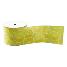Lemon slices grosgrain ribbon