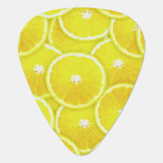 Lemon slices guitar pick