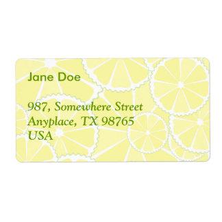 Lemon slices shipping label