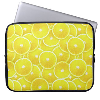 Lemon slices laptop sleeve