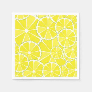 Lemon slices napkin