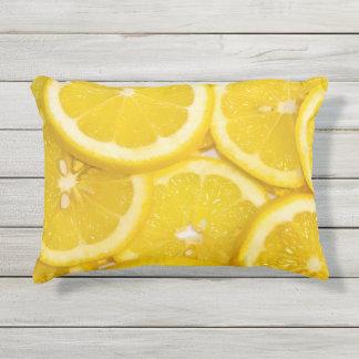 Lemon Slices Outdoor Pillow