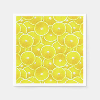 Lemon slices paper napkin
