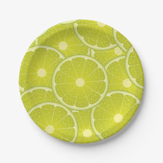 Lemon slices paper plates. paper plate