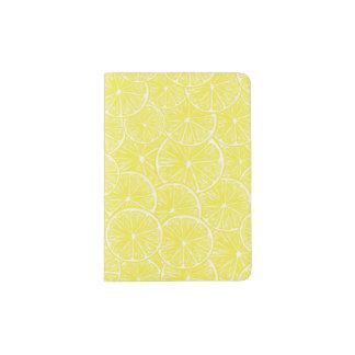 Lemon slices pattern design passport holder