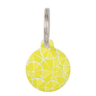 Lemon slices pet tag