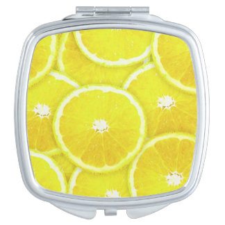Lemon slices makeup mirror
