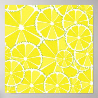 Lemon slices posters