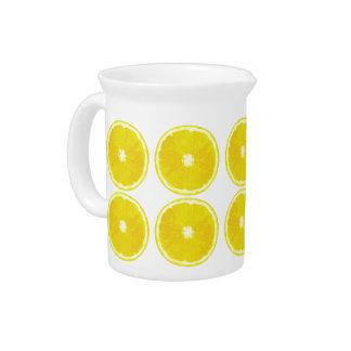 Lemon slices - Retro-Modern Drink Pitcher