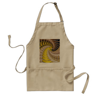 Lemon Slices Spiral Staircase with Polka Dot Boots Adult Apron