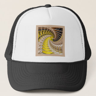 Lemon Slices Spiral Staircase with Polka Dot Boots Trucker Hat