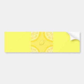 LEMON SLICES YELLOW LEMONADE REFRESHING SUMMER BUMPER STICKER