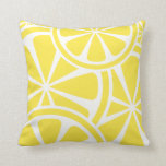 "Lemon Slices Yellow Summer Throw Pillow<br><div class=""desc"">Add a touch of summer to your living room,  porch swing or patio with this bright yellow lemon slices pattern throw pillow. Spruce up for summer gatherings,  cookouts,  backyard barbecues and pool parties.</div>"