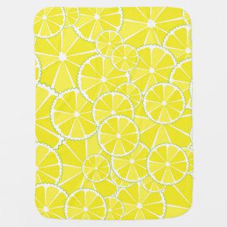 Lemon slices receiving blankets