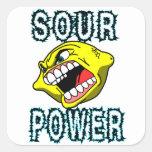 Lemon Sour Power Square Sticker