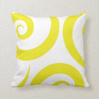 lemon spiral throw pillow