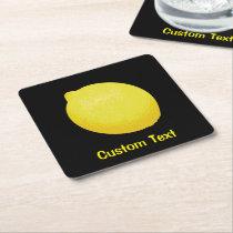 Lemon Square Paper Coaster