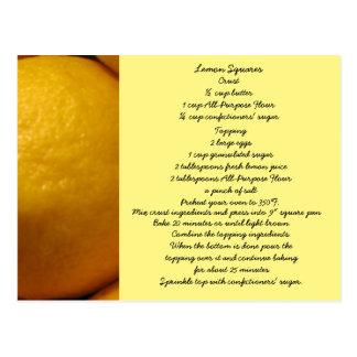 Lemon Squares Recipe Postcard