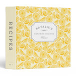 Lemon Squeeze | Personalized Recipe 3 Ring Binder