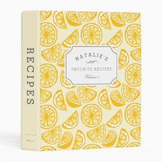 Lemon Squeeze | Personalized Recipe Mini Binder