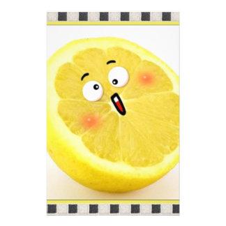 lemon personalized stationery