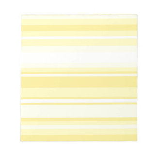 Lemon stripes notepad