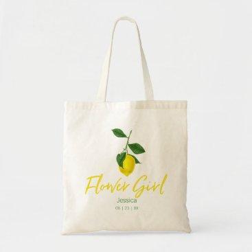 Bride Themed Lemon Summer | Flower Girl Tote