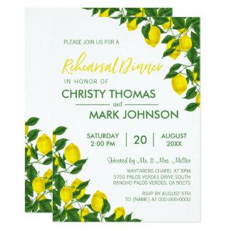 Lemon Summer Rehearsal Dinner Invite