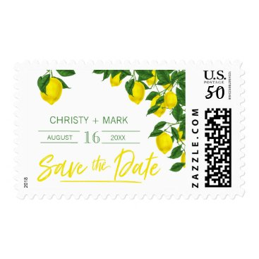 Wedding Themed Lemon Summer | Save the Date Stamps
