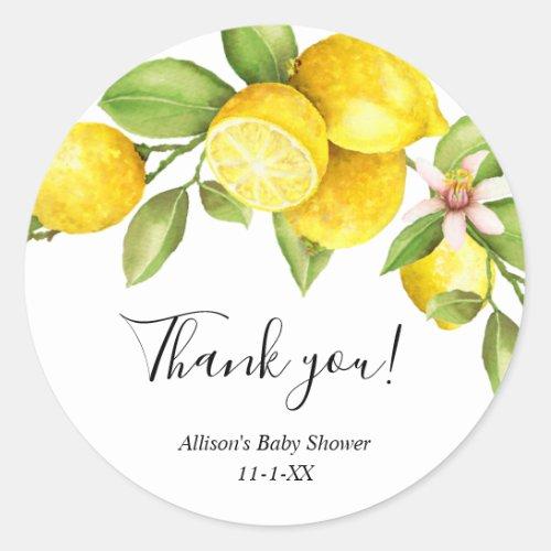 Lemon sweet lemons yellow green summer spring classic round sticker