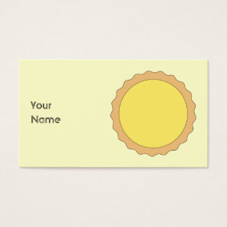 Lemon Tart Pastry. Sunny Yellow. Business Card