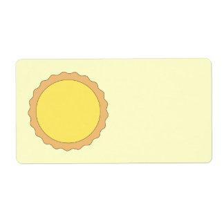 Lemon Tart Pastry. Sunny Yellow. Label