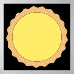 Lemon Tart Pastry. Sunny Yellow. Poster