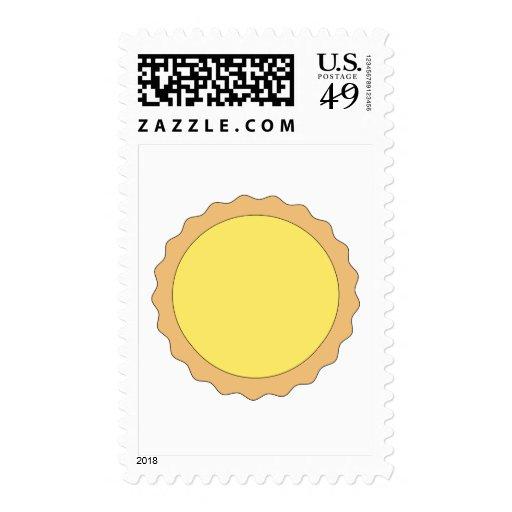 Lemon Tart Pastry. Sunny Yellow. Stamp