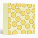 Lemon Tart Pattern. Sunny Yellow. 3 Ring Binder