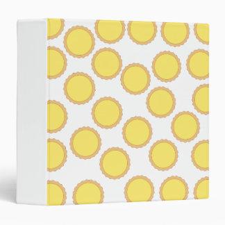 Lemon Tart Pattern. Sunny Yellow. Binder