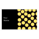 Lemon Tart Pattern. Sunny Yellow. Double-Sided Standard Business Cards (Pack Of 100)