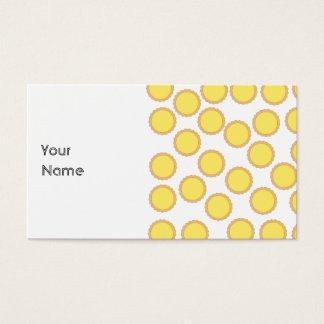 Lemon Tart Pattern. Sunny Yellow. Business Card