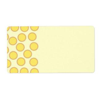 Lemon Tart Pattern. Sunny Yellow. Label