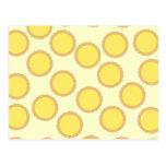 Lemon Tart Pattern. Sunny Yellow. Postcard