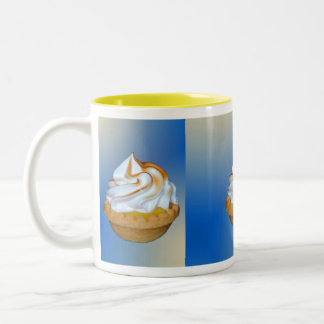 Lemon Tart Tryptich Two-Tone Coffee Mug
