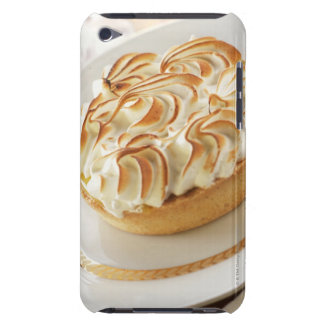 Lemon tart with baked meringue on plate Case-Mate iPod touch case