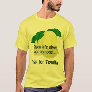 Lemon Tequila Funny Men's Yellow T-shirt