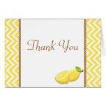 Lemon Thank You Card