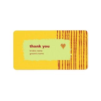 Lemon Thank You Gift Sticker label