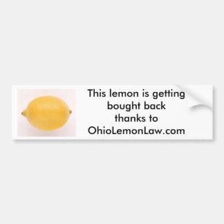 Lemon, This lemon is getting bought backthanks ... Bumper Sticker