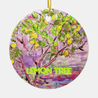 lemon tree art ceramic ornament