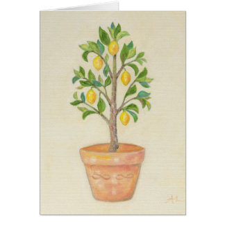 Lemon Tree blank card