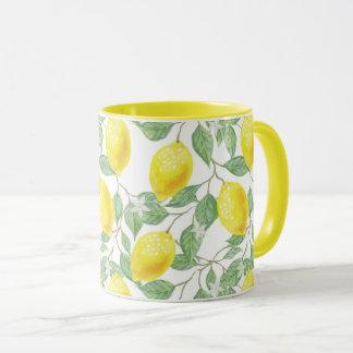 Lemon Tree Pattern Mug