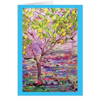 Lemon Tree peace on earth Greeting Card